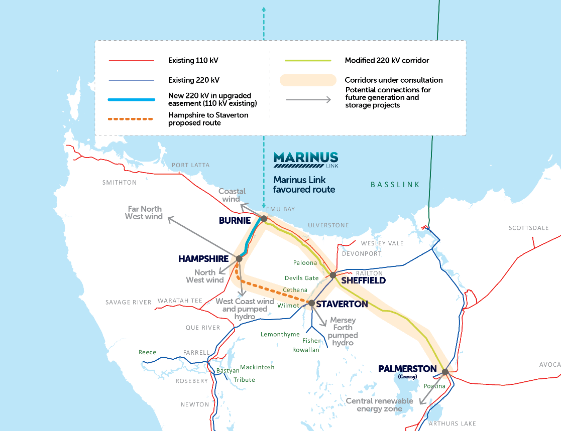 Marnius link favoured route
